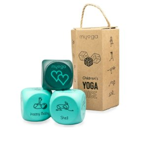 Myga Children's Yoga Exercise Dice. 12 poses, promotes mindfulness & breathing, child friendly soft lightweight foam, boxed RY1110