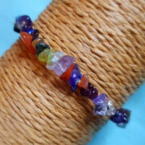 The Calm Necessities Company, Chip-stone bracelet, Healing Crystal, gemstone, Mixed