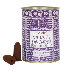 Goloka backflow incense cones Natures Lavender BF34639