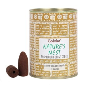Goloka backflow incense cones Natures Nest BF34646